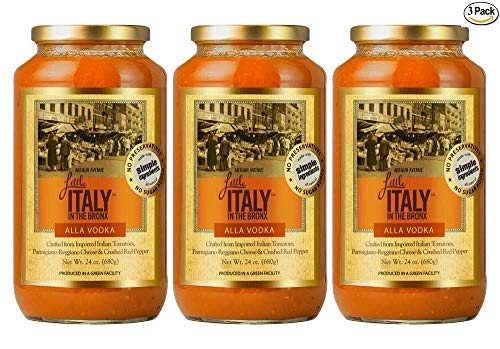 Little Italy Bronx Alla Vodka Sauce 24 oz (3 Pack)