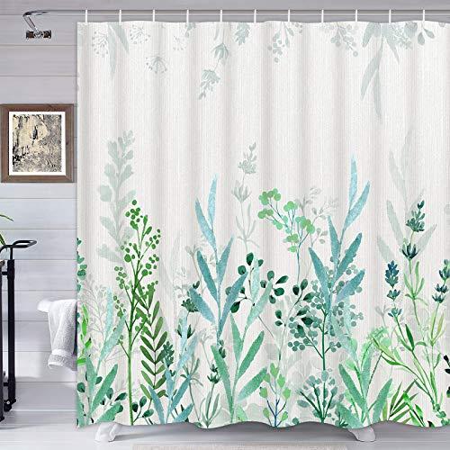 Lifeel Boho Floral Shower Curtain for Bathroom, Colorful Flower Vibrant Blossom Shower Curtain Set, Multi Color