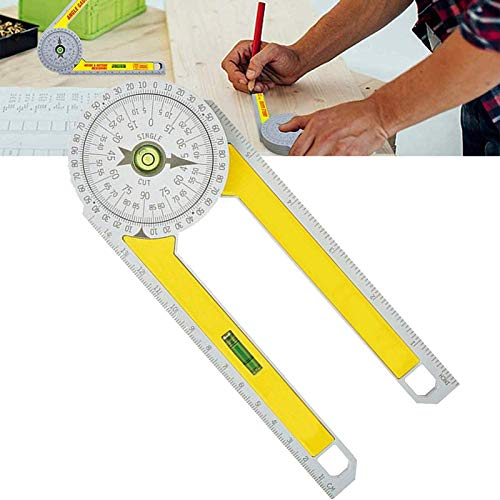 Professional Miter Saw Protractor, Mitre Angle Finder Tool, Corner Angle Finder, Angle Measure Tool Carpentry Tools With High Precision Rectangular Horizontal Bubble Level