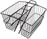 Wald 535 Rear Large Twin Basket (Black, 18X7.5X12)