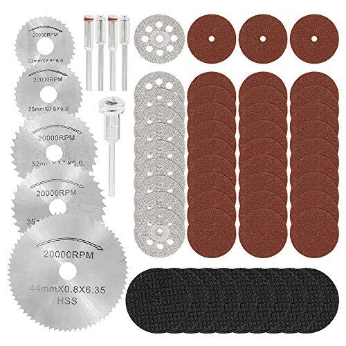 60 discos de diamante Mini 22/25/32/35/44/mm de corte sierra cristal hoja para afilado