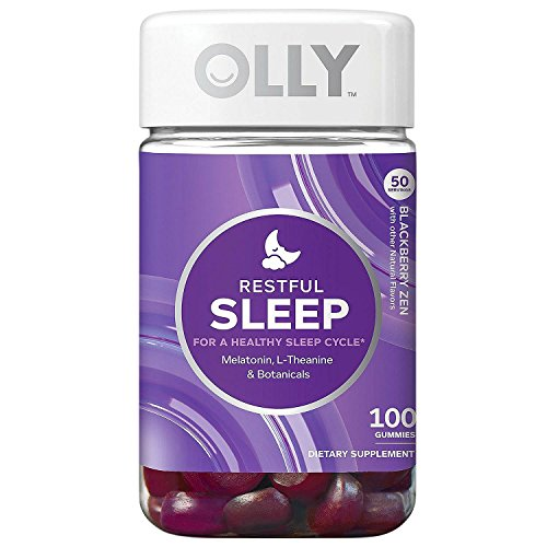 Olly Restful Sleep Gummy Supplements, BlackBerry Zen, Greatquality, 100 Count (Pack of 2)