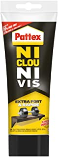 Pattex Ni Clou Ni Vis Extra Fort & Rapide, colle de fixation surpuissante, colle rapide qui permet une prise instantanée, ...