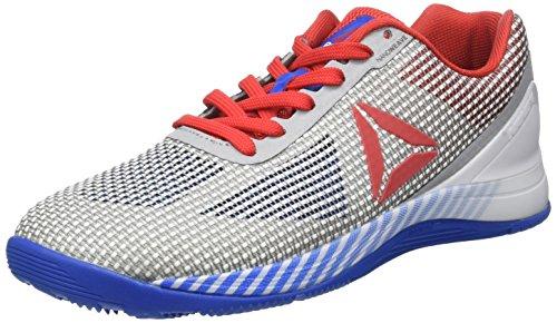 Reebok R Crossfit Nano 7.0, Zapatillas de Running Unisex, Gris (White/awesome Blue/primal Red/black/skull Grey), 39 EU M