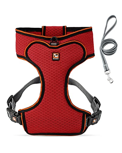 Dog Harness and Leash Set - Dog Vest Harness with Quick-Release Buckle No Pull Escape Proof - Reflective Puppy Harness with Adjustable Strap Lightweight Breathable for Small Medium Dogs Walking Hiking