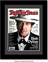 CreativePF [1114bk-b] Collectors Edition Rolling Stones Magazine Frame, Displays Current Magazines Measuring 8 by 10.75-inches w/Black Matting and Wall Hanger (Measure-Your-Magazine) [並行輸入品]