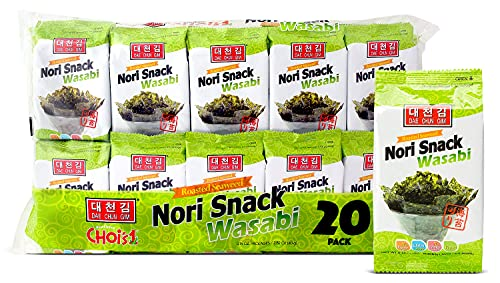 Daechun(Choi''s1) Wasabi Seaweed Snacks, 20 Pack, Product of Korea