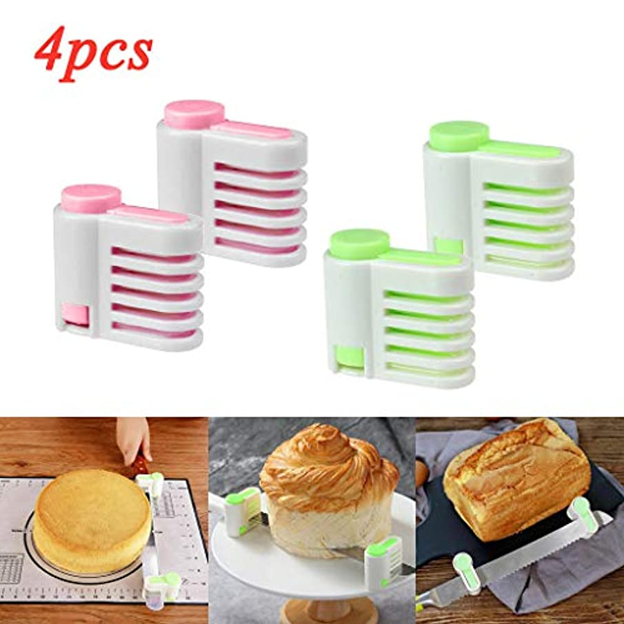 4PCS DIY Cake Slicer, Stratification Auxiliary, Bread Slice, Toast Cut, 5 Layers Leveler Slicer, Kitchen Fixator Tool, KCPer Bread Cutter Durable Baking Kitchen Tools