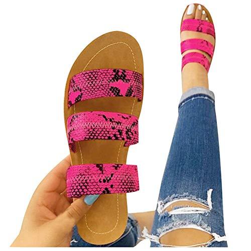 Sandals for Women Platform,2020 Comfy Platform Sandal Shoes Summer Beach Travel Shoes Sandal Ladies Flip Flops Hot Pink