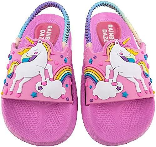 Rainbow Daze Indefinitely Girl's Slide Sandal Molded Slides Unicorn Ela With Today's only