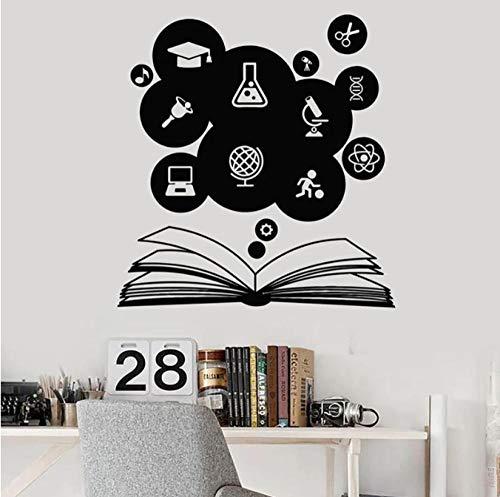 Bildung Wandtisch Aufkleber Open Book Science Study Tür Fenster Vinyl Aufkleber Schule Klassenzimmer Dorm Interior Decor Wallpaper Kunst 42x44 cm