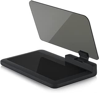 Safego Head Up Display Universal Car Phone GPS HUD Bracket Image Reflector Head Up Display Reflection Projector Phone Car Mount Holder Cradle Mobile Navigation Compatible with 6