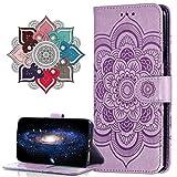 MRSTER Hülle Kompatibel mit Samsung Note 20 Ultra, Flip Schutzhülle [Standfunktion] [Kartenfächern] PU-Leder Schutzhülle Brieftasche Handyhülle für Samsung Galaxy Note20 Ultra 5G. LD Mandala Purple