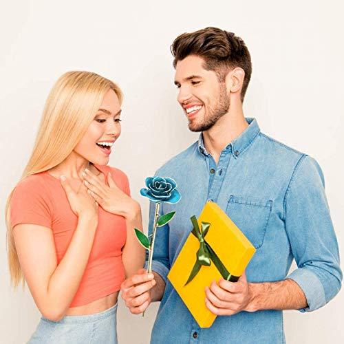 KUIDAMOS 24 Karat Ewige vergoldete Rose, vergoldet Nicht verdorren Ewige 24 Karat Gold Rosen Rote Rose Valentinstag Blumengeschenke für Sie