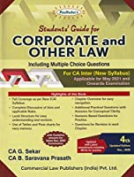 Padhuka's Student's Guide for Corporate and Other Law Including MCQs for CA Final (New Syllabus) - 4/edition, 2020