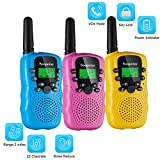 Soopotay Walkie Talkie for Kids 3 Pack, Kids Walkie Talkies Toys for Girls and Boys, Kids Two-Way Radios Toys with 3 Miles Long Distance and 22 Channels, Child Walky Talky for 3-12 Years