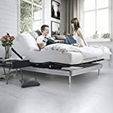 Yaasa Luxe Adjustable Bed Frame King | Anti-Snore, Zero Gravity, Custom Programmable Positions, Dual USB Charging Stations | 700 LB Weight Limit | 10 min Setup, no Tools Required | Wireless Remote