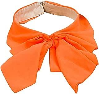 LANGUGU Detachable Orange Blouse Collar Chiffon Bowknot False Collar Choker Peter Pan Necklace