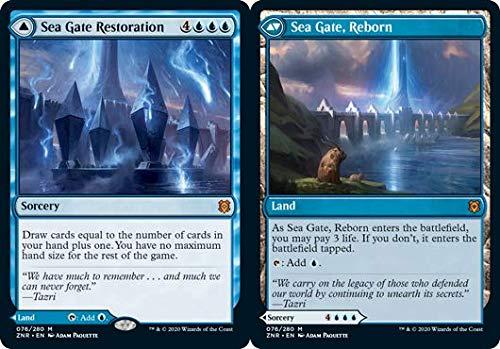 Magic: the Gathering - Sea Gate Restoration // Sea Gate, Reborn - Riparazione di Portale Marino // Portale Marino Rinato - Zendikar Rising