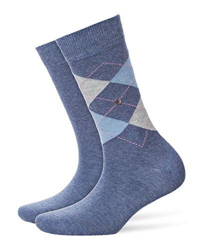 BURLINGTON Damen Socken Everyday - Baumwollmischung, 2 Paar, Blau (Light Denim 6660), Größe: 36-41