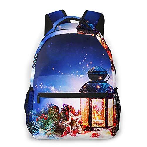 Laptop Rucksack Schulrucksack Magische magische Laterne, 14 Zoll Reise Daypack Wasserdicht für Arbeit Business Schule Männer Frauen