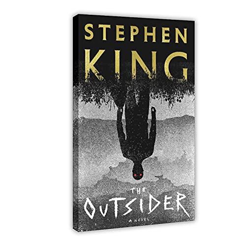 PLGG Poster sur toile Stephen King The Outsider - Décoration murale pour salon, chambre à coucher - Cadre : 30 x 45 cm