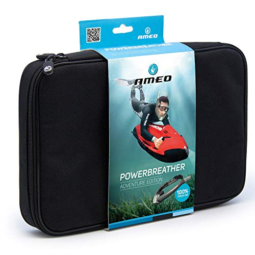 POWERBREATHER Adventure (Grey) - Snorkeling Set - 100% fresh air, 100% dry, no blow out after dive with patented valve technology by AMEO Sports