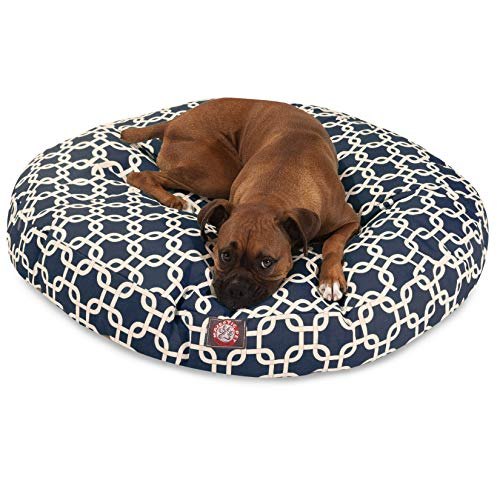 Yellow Links Large Round Indoor Outdoor Pet Dog Bed