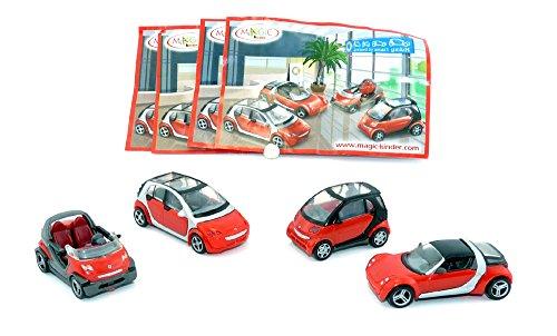 Kinder Überraschung 1 Satz smart Modelle in rot 2007 mit allen Beipackzettel