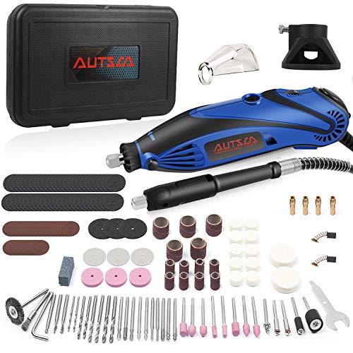 AUTSCA Multifunktionswerkzeug Drehwerkzeug Mit 168 teiligen Zubehörset und 4 Aufsätzen mit viel Zubehör beliebter Allrounder für Hand- und Heimwerker Komplettes Zubehör (Armada-168 Zubehör)