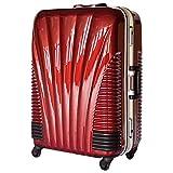 [BB-Monsters] ストッパー付 スーツケース 中型 MSサイズ フレームタイプ キャリーバッグ TSAロック搭載 旅行カバン 日乃本 鳳凰 (22、中型、MS, ワインレッド)