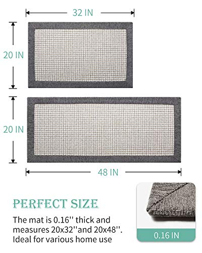 Kitchen Rugs and Mats Non Skid Washable, Absorbent Rug for Kitchen, Large Kitchen Floor Mats for in Front of Sink, 2 PCS Set 20