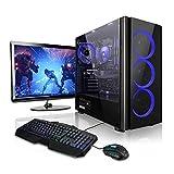 Pack Gaming - Ordenador Gaming PC AMD Ryzen 5 2600 • 24' ASUS Full-HD • Teclado y ratón Gaming • GeForce GTX1050Ti 4GB • 16GB RAM • Windows 10 • 1000GB HDD • PC Gamer • Ordenador de sobremesa