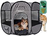 dainz® NEU! Innovativer Welpenauslauf/Welpenlaufstall für Hunde, Katzen & Kleintiere | Katzenlaufstall/Wurfbox für Katzen | Mobiler & sehr Leichter Hundelaufstall als Ruheort/Spielort +Zubehör