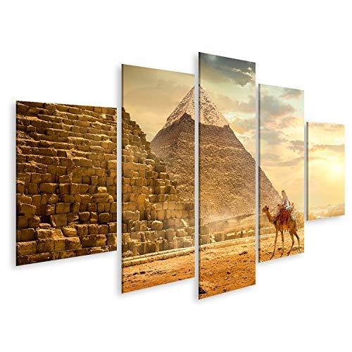 islandburner Cuadro en Lienzo Camello Cerca de Las pirámides Camello nómada Cerca de Las pirámides Desierto Egipcio Cuadros Decoracion Impresión Salon