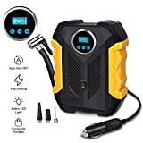 Awindshade Portable Air Compressor for Car Tires, Digital Tire Inflator, 12V DC Air Compressor Tire Inflators, Air Tire Pump, with Emergency LED Flashlight for Cars, Motorcycles, Bikes, Ballons