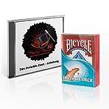 Madus-Magic Das Invisible Deck mit Deutscher Video-Anleitung und DREI verblüffender Kartentricks für Kinder und Erwachsene   Original Bicycle Deck