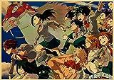 LDTSWES Rompecabezas Hero Academia Puzzle, Madera 1000 Piezas Rompecabezas Janpanese Anime, para niños Educación Rompecabezas Marco