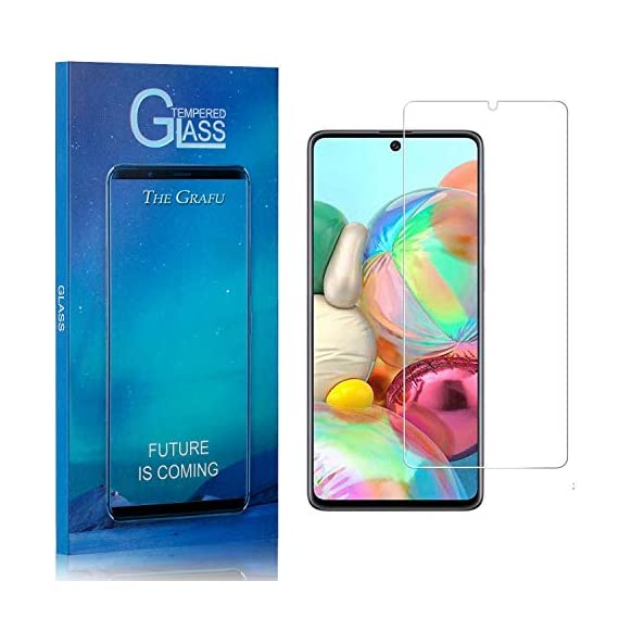 Screen Protector Compatible with Galaxy M60S, The Grafu 9H Ultra Clear Tempered Glass Screen Protector for Samsung… 1 Package: 4* The Grafu tempered glass screen protector for Samsung Galaxy M60S, 4* cleaning cloth, 4* wet wipes, 4* dust removal sticker, 4* instructions Scratch Resistant - Provides everyday protection for your Phone against scratches, bumps and minor drops Transparent - Featuring an ultra-clear, hydrophobic, and oleophobic screen coating, protecting against fingertips, sweat and oil residue. Keep your screen clear at all times