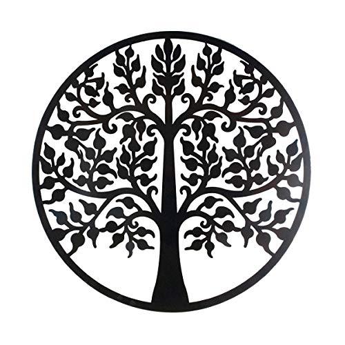 CAPRILO. Adorno Pared Decorativo de Metal Árbol Grande. Cuadros y Apliques. Muebles Auxiliares. Decoración Hogar. Regalos Originales. 80 x 1,20 x 80 cm