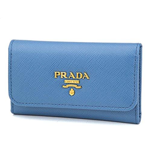 プラダ(PRADA) キーケース 1PG222 UZF F0215 サフィアーノ メタル SAFFIANO METAL ユニセックス COBALTO(コバルト) ブルー 6連[並行輸入品]