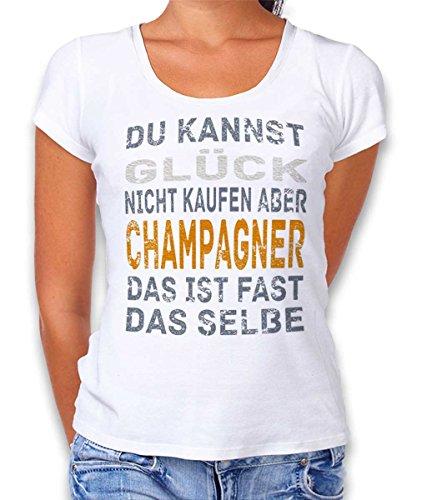 Shirtdl Kannst Glueck niet kopen maar champagne dames T-shirt - vele kleuren/S-XXL
