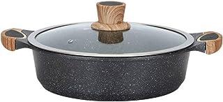 TJLSS Antiadherente Sopa de Olla, de Alta Temperatura de la Resistencia Maifan Stone Soup Olla con Tapa Disponible for la Cocina Cocina de inducción Hervido Pot Carne Asada Pot