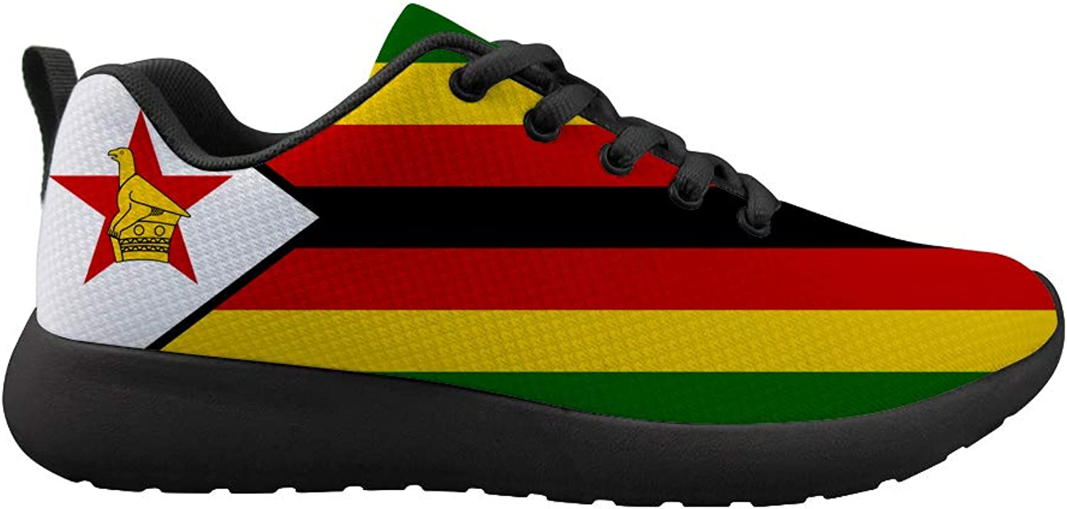 Owaheson Cushioning Sneaker Trail Running shoes Mens Womens Zimbabwe Flag