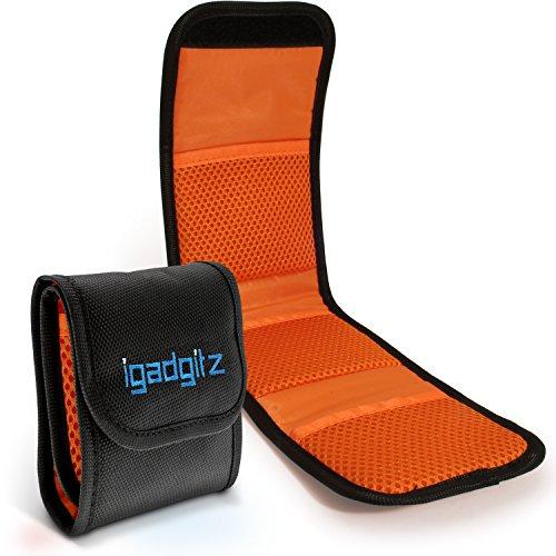 iGadgitz U4536 3 Taschenbeutel Objektivfilter Tasche Hülle Etui Kompatibel mit SKR & DSLR Kameras