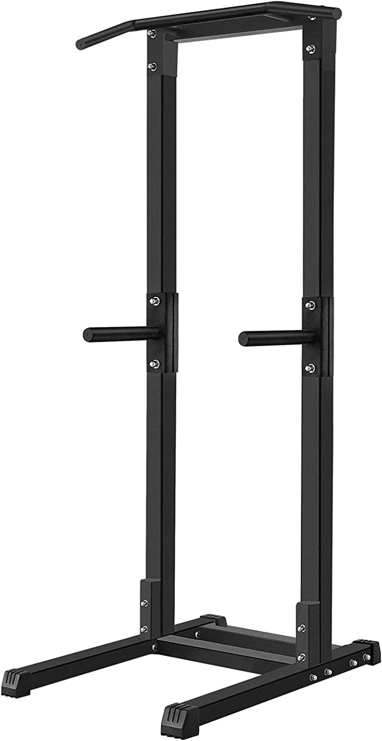 Power Tower Pull Up Dip Station for Home Gym Adjustable Height S