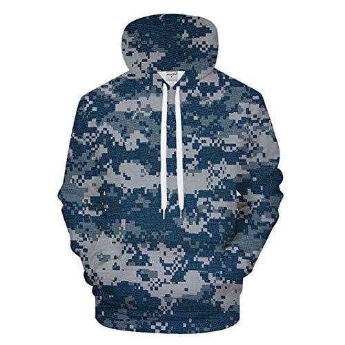 SIFNG Blau Mosaic Pattern 3D Print Hoodies Männer Frauen Hoodie Casual Sweatshirt GrootPullover Streatwear
