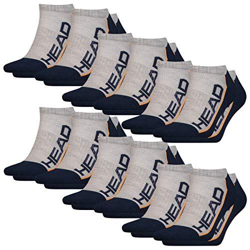HEAD Unisex Performance Sneaker 12er Pack 35-38 39-42 43-46, Größe:39/42, Farbe:Grey/Navy (870)