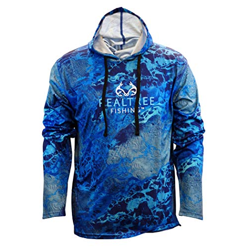 Staghorn Mens Fishing Camo Performance Tech Hoodie, Realtree...