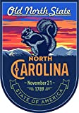 State Animal North Carolina Night 4x5.5 inches Sticker Decal die Cut Vinyl - Made and Shipped in USA